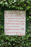 Europe/France/Normandie/Basse-Normandie/50/Manche/Presqu'île de la Hague/Saint-Germain-des-Vaux : Jardin en hommage à Prévert [Non destiné à un usage publicitaire - Not intended for an advertising use]