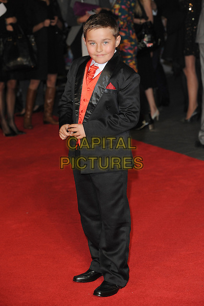 Ieuan Heinz <br /> attends the European Premiere of 'One Chance' during the BFI London Film Festival, Odeon Leicester Square, London, UK, <br /> 17th October 2013.<br /> full length black suit orange tie waistcoat <br /> CAP/BEL<br /> &copy;Tom Belcher/Capital Pictures