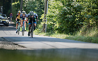 breakaway group descending the Kanarieberg<br /> <br /> 70th Halle Ingooigem 2017 (1.1)<br /> 1 Day Race: Halle &gt; Ingooigem (201km)