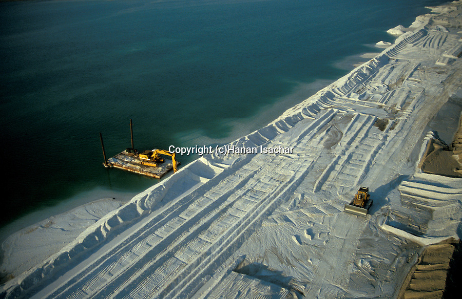 Israel, an aerial view of the Dead Sea, potassium plant