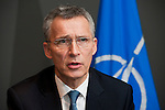 Brussels - Belgium, January 28, 2016 -- Jens STOLTENBERG, NATO Secretary General, during an interview at Residence Palace after his Annual Report on 2015 -- Photo: © HorstWagner.eu