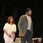 """General Hospital Florencia Lozano (OLTL) and Alfredo Narcisco (played a cop on AMC) stars in """"Red Dog Howls"""" as it opens on September 24, 2012 at New York Theatre Workshop in New York City, New York with the after party at Phebe's.  (Photo by Sue Coflin/Max Photos)"""