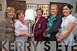 Dunloe lady captain Mary Moynihan, centre, pictured with the winners of the lady captains prize competition on Sunday. Pictured are Kathleen Coffey, guest, Helen Clifford, winner, Katie O'Connor, second and Breda Mulryan, third..NO FEE...........
