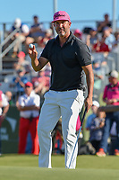 Scott Piercy (USA) after sinking his putt on 18 during round 4 of the AT&T Byron Nelson, Trinity Forest Golf Club, Dallas, Texas, USA. 5/12/2019.<br /> Picture: Golffile   Ken Murray<br /> <br /> <br /> All photo usage must carry mandatory copyright credit (© Golffile   Ken Murray)