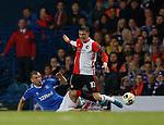 19.09.2019 Rangers v Feyenoord: Borna Barisic makes a great tackle on Steven Berghuis