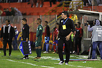PASTO -COLOMBIA, 20-02-2018: Luis Fernando Suarez técnico de La Equidad gesticula durante el encuentro con Deportivo Pasto por la fecha 4 de la Liga Águila II 2018 jugado en el estadio La Libertad de Pasto. / Luis Fernando Suarez coach of La Equidad gestures during match against Deportivo Pasto for the date 4 of Aguila League II 2018 played at La Libertad stadium in Pasto. Photo: VizzorImage / Leonardo Castro / Cont