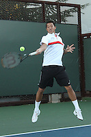 STANFORD, CA - NOVEMBER 16:  Denis Lin of the Stanford Cardinal during photo day on November 16, 2009 at the Taube Family Tennis Stadium in Stanford, California.