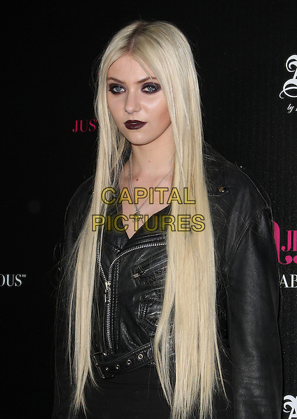 Taylor Momsen.JustFabulous And Abbey Dawn By Avril Lavigne Partnership Launch Party Held At The The Viper Room, West Hollywood, California, USA..March 13th, 2012.half length black jacket leather lipstick eyeliner make-up .CAP/ADM/KB.©Kevan Brooks/AdMedia/Capital Pictures.