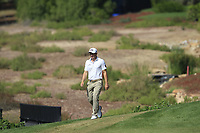 Paul Dunne (IRL) on the 16th fairway during the final round of the DP World Tour Championship, Jumeirah Golf Estates, Dubai, United Arab Emirates. 18/11/2018<br /> Picture: Golffile | Fran Caffrey<br /> <br /> <br /> All photo usage must carry mandatory copyright credit (© Golffile | Fran Caffrey)