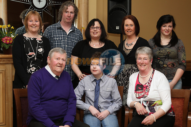 Breda Levins with her family at her Retirement Party from Our Lady of Lourdes Hospital in the Thatch...(Photo Jenny Matthews/www.newsfile.ie)