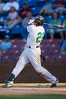 Brandon Allen (22) of the Winston-Salem Warthogs follows through on his swing versus the Kinston Indians at Ernie Shore Field in Winston-Salem, NC, Saturday, May 17, 2008.