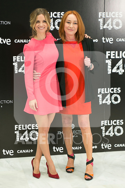 "Paula Cancio and Gracia Querejeta attend the Presentation of ""Happy 140"" (Felices 140) Movie at Eurobuilding Hotel, Madrid,  Spain. April 07, 2015.(ALTERPHOTOS/)Carlos Dafonte)"