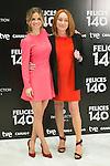 """Paula Cancio and Gracia Querejeta attend the Presentation of """"Happy 140"""" (Felices 140) Movie at Eurobuilding Hotel, Madrid,  Spain. April 07, 2015.(ALTERPHOTOS/)Carlos Dafonte)"""