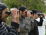 Birdwatching at Rutland Water, Leicestershire, England