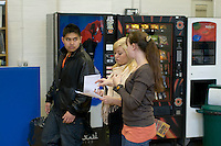 Current and prospective students, Open Day at Kingston College when prospective students and their parents look around.