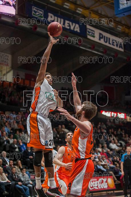 VALENCIA, SPAIN - December 2: Augustine Rubit during EUROCUP match between Valencia Basket Club and Ratiopharm ULM at Fonteta Stadium on December 2, 2015