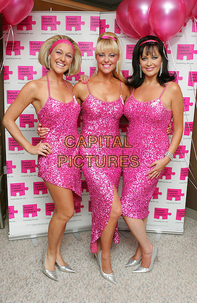 THE SHEILAS from Sheila's Wheels.Attends The Pink Ribbon Ball, The Dorchester Hotel,.London, England, October 6th 2007..full length pink fuschia dress dresses matching.CAP/ROS.©Steve Ross/Capital Pictures