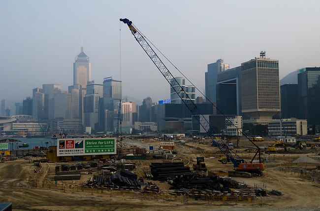 Hong Kong urban scene construction for new Star Ferry pier area