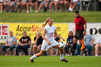 FC Kansas City forward Melissa Henderson (2). Sky Blue FC and FC Kansas City played to a 2-2 tie during a National Women's Soccer League (NWSL) match at Yurcak Field in Piscataway, NJ, on June 26, 2013.
