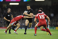 Sonny Bill Williams of New Zealand is tackled by Davit Kacharava of Georgiaduring Match 23 of the Rugby World Cup 2015 between New Zealand and Georgia - 02/10/2015 - Millennium Stadium, Cardiff<br /> Mandatory Credit: Rob Munro/Stewart Communications