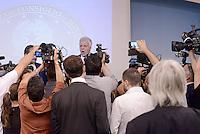 Roma, 6 Agosto 2015<br /> Dissesto idrogeologico. Conferenza stampa a Palazzo Chigi per presentare il piano di oltre 100 cantieri contro le alluvioni.<br /> Il Ministro dell&rsquo;Ambiente, Gian Luca Galletti.