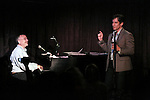 Marc Shaiman and Seth Rudetsky performing at the Seth Rudetsky Book Launch Party for 'Seth's Broadway Diary' at Don't Tell Mama Cabaret on October 22, 2014 in New York City.