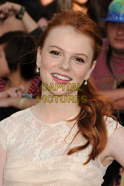 "Annie Thurman.""The Hunger Games"" Los Angeles Premiere held at Nokia Theatre LA Live, Los Angeles, California, USA..March 12th, 2012.headshot portrait lace cream  .CAP/ADM/BP.©Byron Purvis/AdMedia/Capital Pictures."