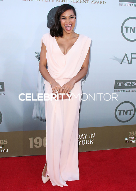 HOLLYWOOD, LOS ANGELES, CA, USA - JUNE 05: Rosario Dawson at the 42nd AFI Life Achievement Award Honoring Jane Fonda held at the Dolby Theatre on June 5, 2014 in Hollywood, Los Angeles, California, United States. (Photo by Xavier Collin/Celebrity Monitor)