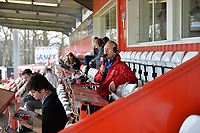Press Box during Stevenage vs Cambridge United, Sky Bet EFL League 2 Football at the Lamex Stadium on 14th April 2018