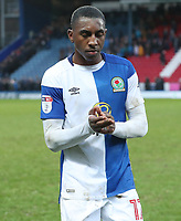 Blackburn Rovers Amari'i Bell at the end of todays match<br /> <br /> Photographer Rachel Holborn/CameraSport<br /> <br /> The EFL Sky Bet League One - Blackburn Rovers v Oldham Athletic - Saturday 10th February 2018 - Ewood Park - Blackburn<br /> <br /> World Copyright &copy; 2018 CameraSport. All rights reserved. 43 Linden Ave. Countesthorpe. Leicester. England. LE8 5PG - Tel: +44 (0) 116 277 4147 - admin@camerasport.com - www.camerasport.com