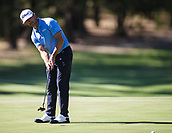 9th February 2018, Lake Karrinyup Country Club, Karrinyup, Australia; ISPS HANDA World Super 6 Perth golf, second round; Wade Ormsby (AUS SA) putts