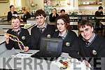 The Gael Colaiste Chairrai students, l to r, Aindriu O'Muimhneachain, Cian O'Muireagain, Leah Ni Sheanachain and Sean O'Loingsigh going forward to BT Young Scientists  Exhibition.
