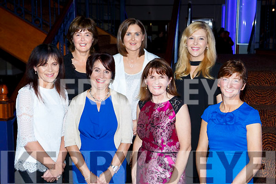 Repesenting Holy Cross/Mercy NS at the Ring of Kerry cycle cheque presentation in the INEC on Friday were front row l-r: Anne Lucey, Ursula Coffey Principal, Lucy O'Mahony, Marie Hillard. Back row: Judy O'Mahony, Marian Brosnan and Rhonda Healy