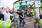 © Joel Goodman - 07973 332324 - all rights reserved . 05/12/2009 . Nottingham , UK . The EDL ( English Defence League ) hold a demonstration in Nottingham , opposed by various anti-fascist groups including Unite Against Fascism . Photo credit : Joel Goodman