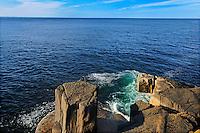 Rocky shoreline of St. Mary's Bay<br /> Near Tiverton on Long Island on the Digby Neck<br /> Nova Scotia<br /> Canada