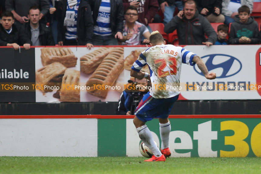 Daniel Williams of Reading scores - Charlton Athletic vs Reading - Sky Bet Championship Football at the Valley, London - 05/04/14 - MANDATORY CREDIT: George Phillipou/TGSPHOTO - Self billing applies where appropriate - 0845 094 6026 - contact@tgsphoto.co.uk - NO UNPAID USE