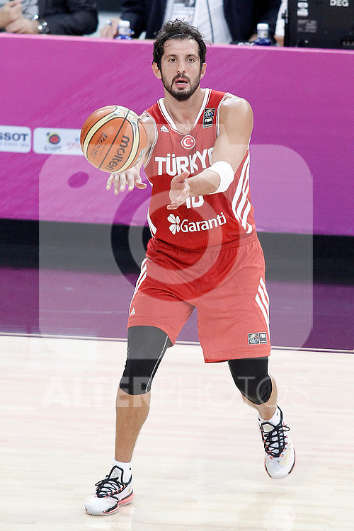 Turkey's Kerem Tunceri during 2014 FIBA Basketball World Cup Quarter-Finals match.September 9,2014.(ALTERPHOTOS/Acero)