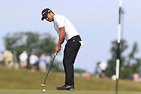 Xander Schauffele (USA) putts on the 6th green during Friday's Round 2 of the 117th U.S. Open Championship 2017 held at Erin Hills, Erin, Wisconsin, USA. 16th June 2017.<br /> Picture: Eoin Clarke | Golffile<br /> <br /> <br /> All photos usage must carry mandatory copyright credit (&copy; Golffile | Eoin Clarke)