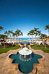 The main pool entrance at the Four Seasons Resort Maui,  Wailea, Maui, Hawaii, USA