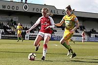 Beth Mead of Arsenal and Nicola Cousins of Yeovil during Arsenal Women vs Yeovil Town Ladies, FA Women's Super League FA WSL1 Football at Meadow Park on 11th February 2018