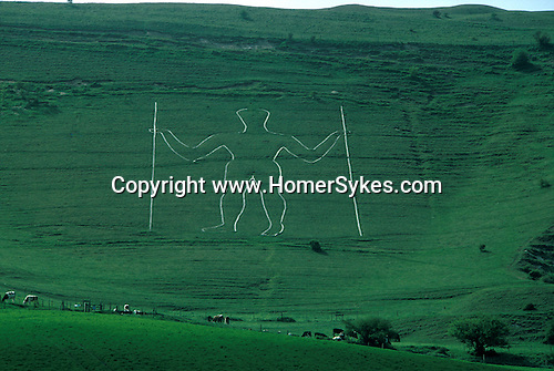 The Long Man of Wilmington Nr Wilmington, East Sussex, England. Mysterious Britain published by Orion