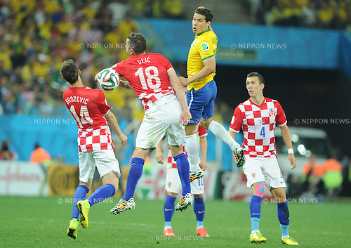 Hernanes (BRA), JUNE 12, 2014 - Football / Soccer : FIFA World Cup Brazil 2014 Group A match between Brazil 3-1 Croatia at Arena de Sao Paulo in Sao Paulo, Brazil. (Photo by SONG Seak-In/AFLO)