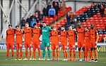 Dundee Utd observe a minutes silence for Remembrance