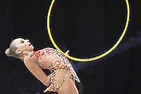September 26, 2014 - Izmir, Turkey -  YANA KUDRYAVTSEVA of Russia performs at 2014 World Championships.