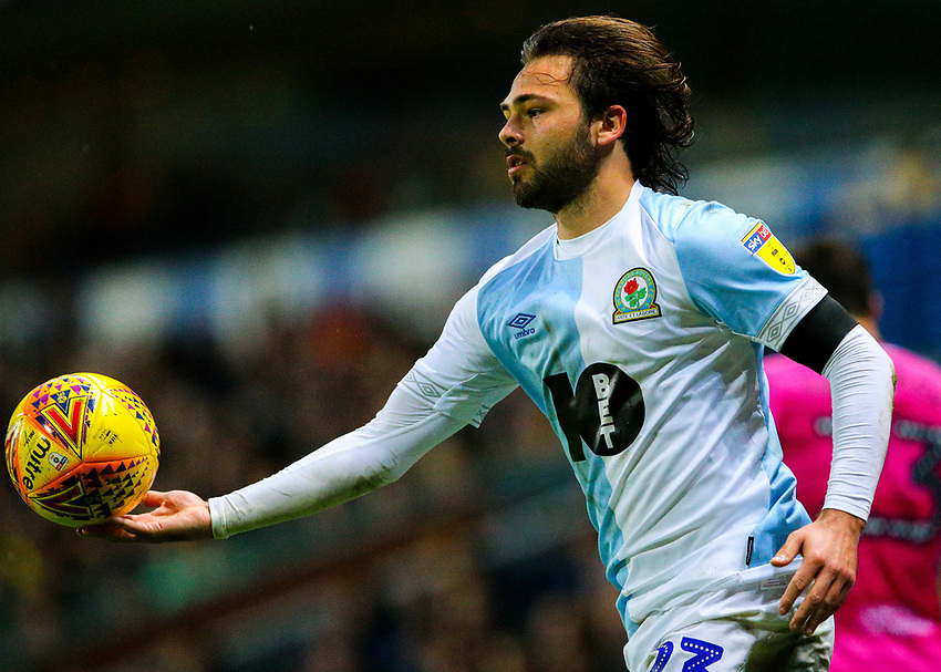 Blackburn Rovers' Bradley Dack<br /> <br /> Photographer Alex Dodd/CameraSport<br /> <br /> The EFL Sky Bet Championship - Blackburn Rovers v Queens Park Rangers - Saturday 3rd November 2018 - Ewood Park - Blackburn<br /> <br /> World Copyright © 2018 CameraSport. All rights reserved. 43 Linden Ave. Countesthorpe. Leicester. England. LE8 5PG - Tel: +44 (0) 116 277 4147 - admin@camerasport.com - www.camerasport.com