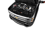 Car Stock 2016 Chevrolet Silverado 2500Hd High Country 4 Door Pick Up Engine  high angle detail view