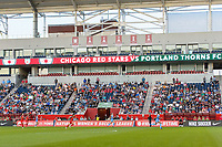 Bridgeview, IL - Saturday August 12, 2017: Toyota Park during a regular season National Women's Soccer League (NWSL) match between the Chicago Red Stars and the Portland Thorns FC at Toyota Park. Portland won 3-2.
