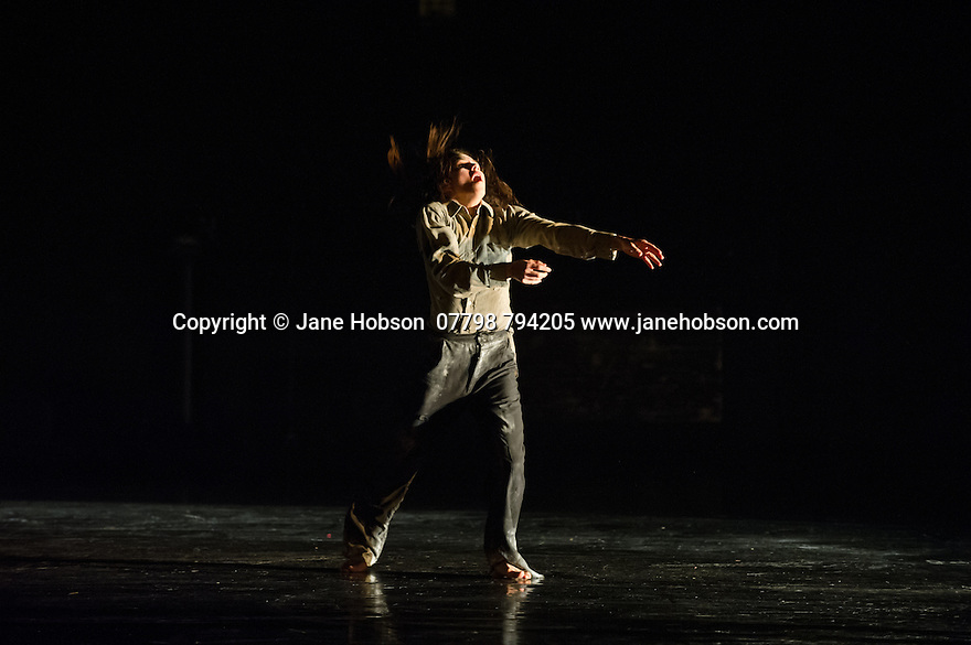 London, UK. 25.03.2014. Compagnie du Hanneton/ James Thierree presents the UK premiere of TABAC ROUGE at Sadler's Wells. Picture shows: Katell le Brunn. Photograph © Jane Hobson.
