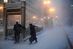 A blizzard dropped 18 inches of snow, the fifth largest blizzard on record, in Chicago, Illinois on February 1, 2015.