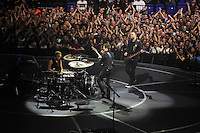 LONDON, ENGLAND - APRIL 3: Dominic Howard, Matt Bellamy and Chris Wolstenholme of 'Muse' performing at the O2 Arena on April 3, 2016 in London, England.<br /> * Press use only. No merchandising *<br /> CAP/MAR<br /> &copy;MAR/Capital Pictures /MediaPunch ***NORTH AND SOUTH AMERICAS ONLY***